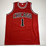 Unsigned Derrick Rose Chicago Red Custom Stitched