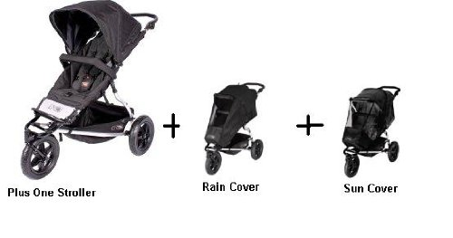 Mountain Buggy Plus One Stroller, Rain Cover, and Sun Cover by Mountain Buggy