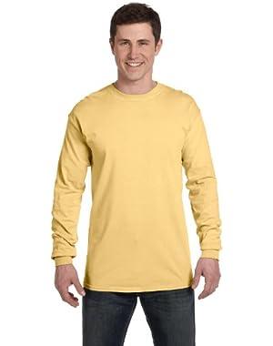 Ringspun Garment-Dyed Long-Sleeve T-Shirt (C6014)- BUTTER, L