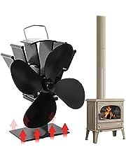 Orthland Kachelventilator zonder stroom met 4 rotorbladen voor hout/LOG brander/open haard