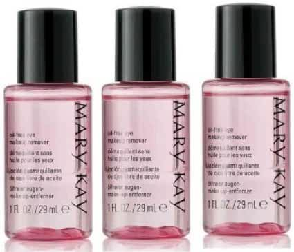 Mary Kay Travel Size Mini Oil Free Eye Makeup Remover ~ Set of 3 Pink Bottles