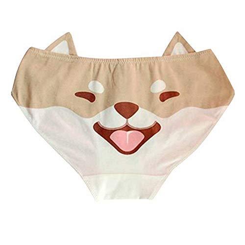 paloli Cute Girls Anime Panties Shiba Inu/Akita Dog Printed Cotton Panty Cosplay Costume Underwear ()