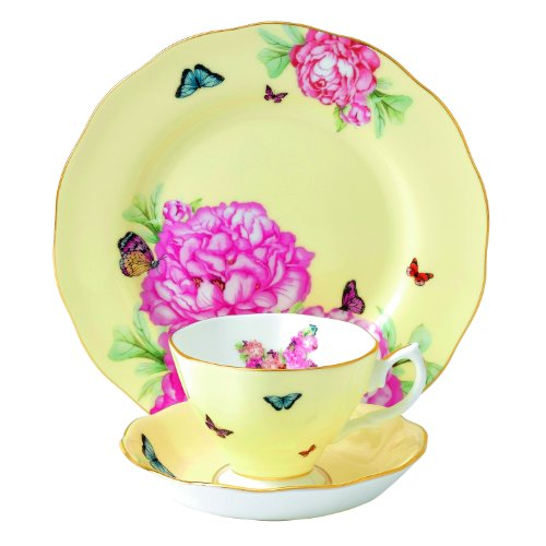 Royal Albert Joy 3-Piece Teacup, Saucer and Plate Set Designed by Miranda Kerr