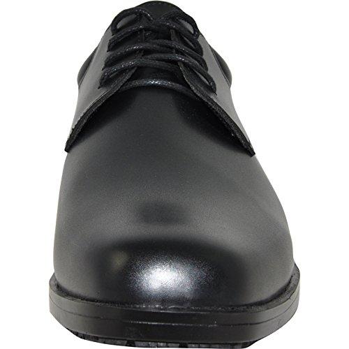 Vangelo Professionale Antiscivolo Da Uomo Scarpa Da Lavoro Newport Nero-larghezza Larghezza Disponibile-misura Mezza Taglia Piccola Nera Opaca