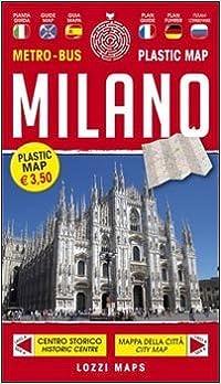 Laminated Milan / Milano Map with Metro & Bus Routes