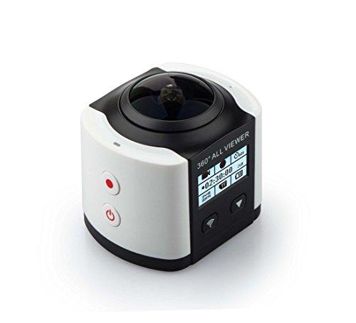 [二個電池付き]SOYA 4k ビデオカメラ 3D VR 360度カメラ 全天球 アクションカメラ 30メートル防水 フルHD水中撮影 Wifi アウトドア旅行と賞景に最適 日本語の説明書 M360C