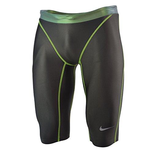 Nike Uomo Swift Jammer Nuoto Trunk Dark Grigio Verde Grigio