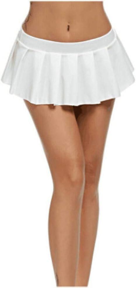 HAHAQZ Falda,Sexy Mini Falda Corta Blanca Mujer Micro Mini Falda ...