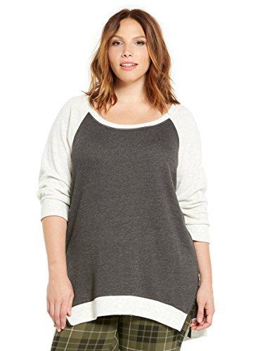 Zipper Side Raglan Sweatshirt