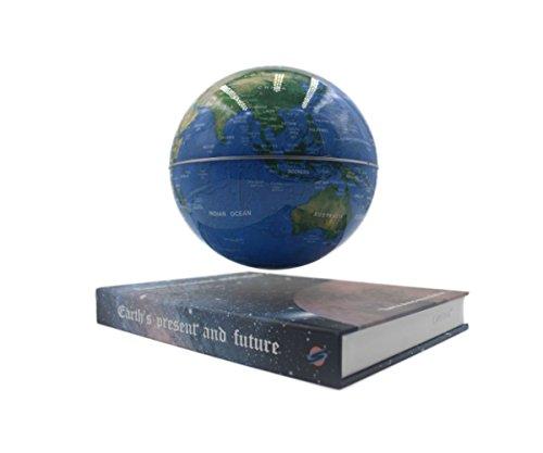 Glovion Book Style Anti Gravity Globe with World Map Novelty