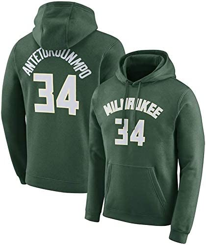 #34 Basketball Hoodie Sweatshirt、Bucks ANTETOKOUNMPO 34#Spring Sweatshirt、#34 Fan Training Wear Jersey Hoodie