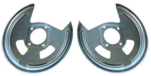 Compatible With 1964-1981 all GM 10 12 Bolt Rear Axle End Disc Brake Conversion Backing Plates Set (L 11 6)