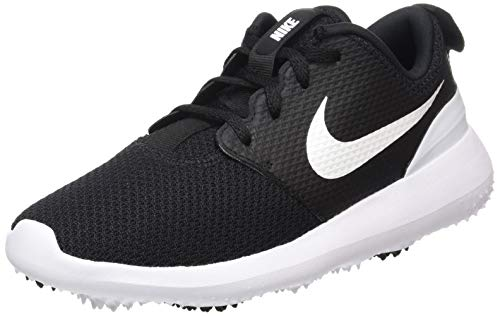 Nike Golf- Juniors Roshe G Shoes Black/Game Royal/White (Kids Nike Golf Shoes)