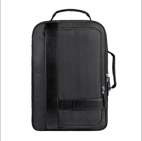 メンズブラックビジネスリュックサック防水バックパックラップトップショルダーバッグたくさんのショックプルーフハイキングキャンプ屋外用