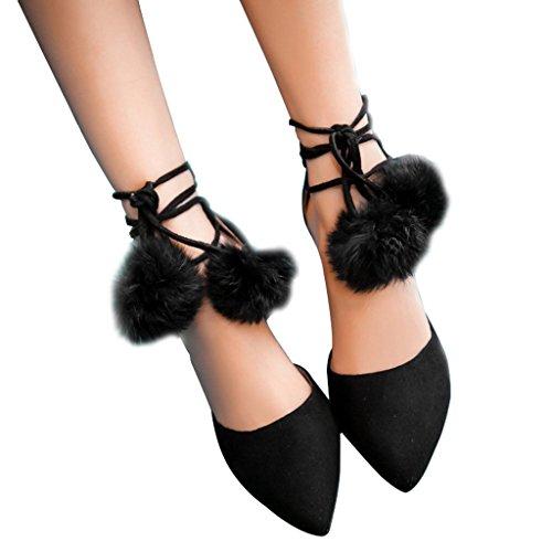 Guoar - Tira de tobillo Mujer Negro - negro