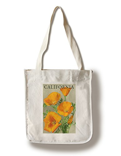 Lantern Press California - Poppies (100% Cotton Tote Bag - Reusable)