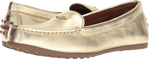 Coach Women's Lock Up Driver Gold Metallic Leather 6 M ()