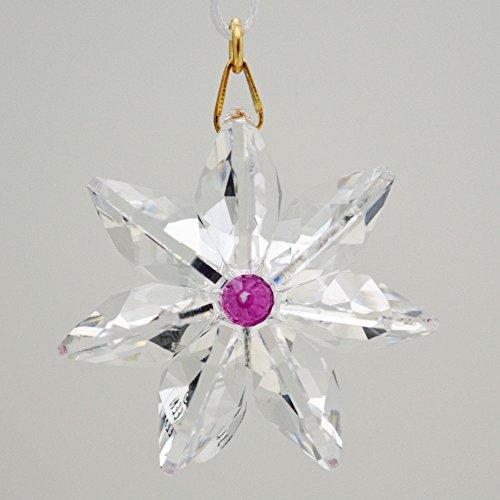 J'Leen Clear Crystal Daisy Fuchsia Center ()