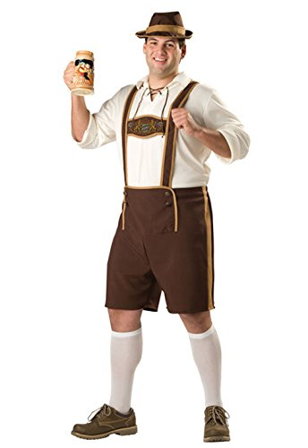 [Mememall Fashion Bavarian Guy Beer Octoberfest Plus Size Halloween Costume] (Madonna Costume Plus Size)