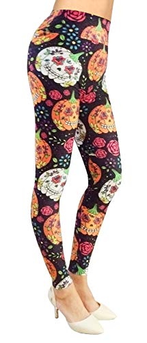 Simplicity Halloween Women's Pumpkin Print Footless Ankle Length -