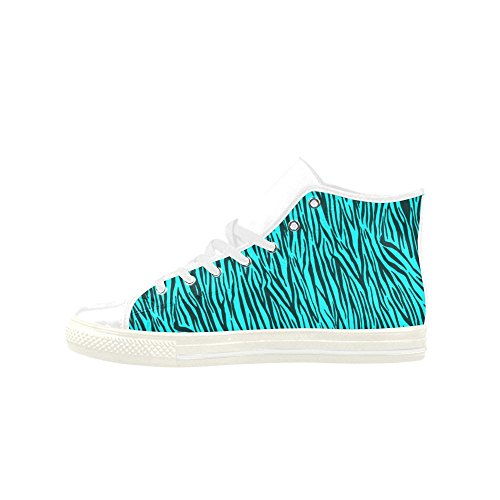 Zebra Model 027 Aquila Womens Turquoise Leather Stripes Shoes D Custom Top Story High Action qwtA6tS7