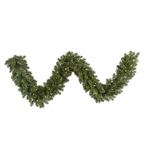 Vickerman 50' Grand Teton Artificial Christmas Garland with 600 Warm White LED Lights by Vickerman