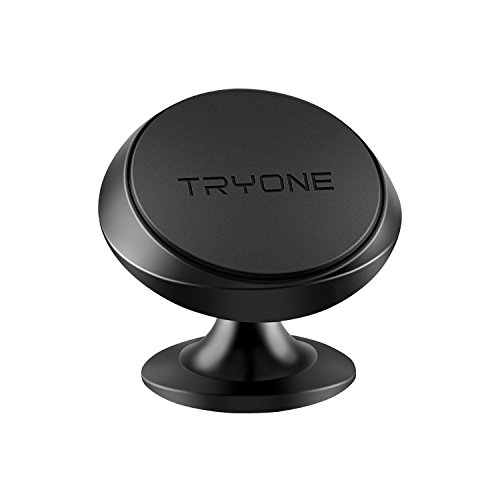 Magnetic Car Mount Tryone Magnet Phone Holder for iPhone 7/6/5 Galaxy S7/S6 Or GPS | One-Piece Stylish Design | Strong Magnet | Not Fit for Wireless Charger User(Black)