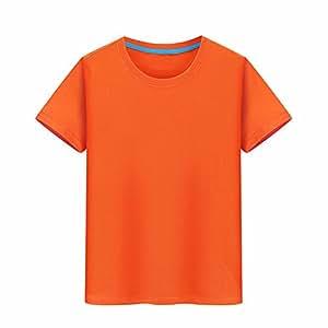 XIAOGEGE La Camiseta Naranja Camisetas Personalizadas, Ropa de Media Manga 100% algodón Camiseta Igual impresión fotográfica Ropa Creativa,XL