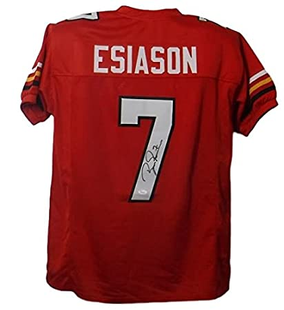a313daafb Boomer Esiason Autographed Maryland Terrapins Size XL Red Jersey JSA ...