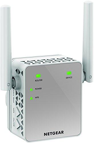 NETGEAR EX3700-100UKS AC750 WiFi Range Extender 802.11n/ac 1-Port Wall-plug External Antennas
