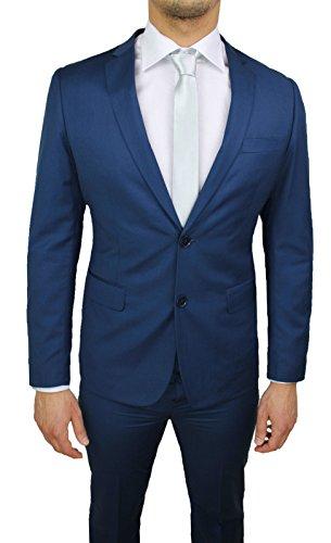 Abito completo sartoriale uomo blu slim fit elegante vestito smoking cerimonia