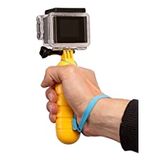 Camera Wrist Strap, Fosmon Floater with Screw and Lanyard for GoPro HD Hero 1 / 2 / 3 / 3 Plus / 4 Black Silver / 4 Session / 5 / 5 Session (Yellow)