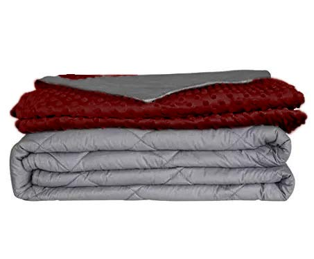 Cheap Weighted Blanket for Adults and Kids Over 115lbs. with Removable Duvet Cover | Sensory Glass Beaded Quilt | 60