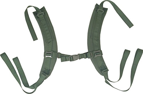 Fire Force A.L.I.C.E. Pack Shoulder Straps LC-2 Shoulder Strap Pads Made in USA (Camo Green)