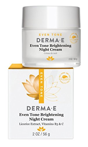 derma e Evenly Radiant Brightening Night Crme with Vitamin C Nighttime Moisturizer, 2 oz
