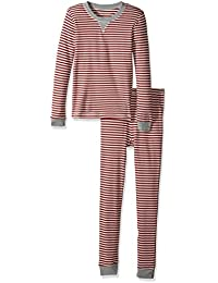 Women's Adult 100% Organic Cotton Holiday Tee and Pant Pajamas