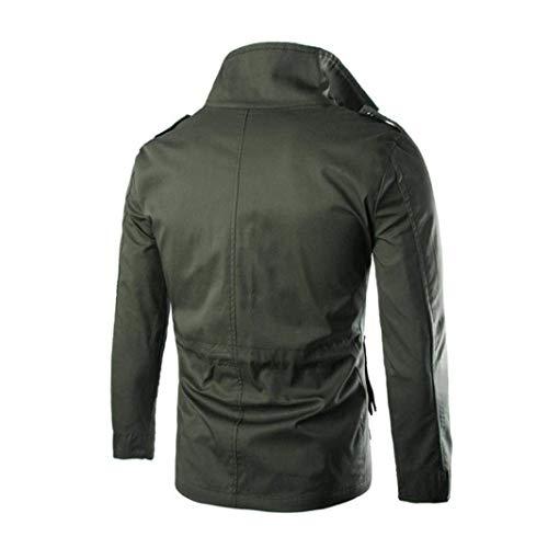 Men Jacket Men Autumn Stand Long Winter Slim Men Schwarz Solid Jacket Outwear Apparel Jackets Coat Collar Outdoor Huixin Color Sleeve Leisure pfwqAFnwE