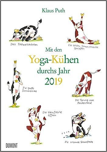 Mit Den Yoga Kuhen Durchs Jahr 2019 Lustige Cartoons