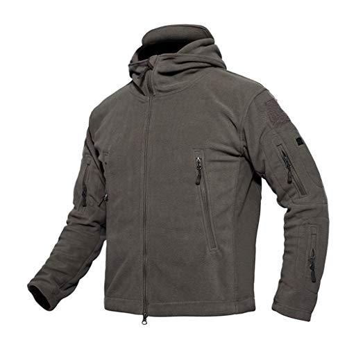 Capuche Hommes Vestes 4xl Gris Velours En D'extérieur Pour Chaud À Côtelé S Manteaux Fogun Tactiques q1CwwX