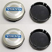 Set Van 4 Naafdoppen voor Volvo V40 V60 S60 S80 XC60 XC90 60mm, Waterdicht, Stofdicht, Roestvrij, Vervangende…