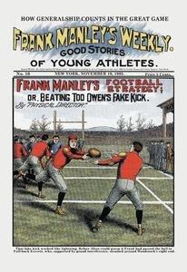 Frank Manley's Football Strategy Fine Art Canvas Print (20