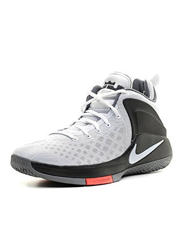 sports shoes b53e1 f258c Galleon - Nike Mens Lebron Zoom Witness Sneakers 852439 White Black Cool  Grey (13, White White-Black-Cool Grey)