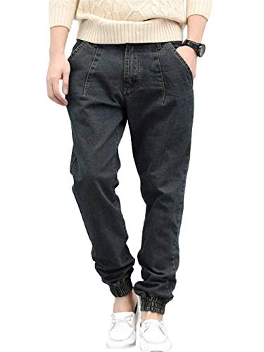 Modo Pantaloni Abbigliamento Dell'anca Lunghi Casuali Denim Streetwear Di I Jeans Retro Dei Graublack Stile Del Allentano Larghi nxWfwZ1T
