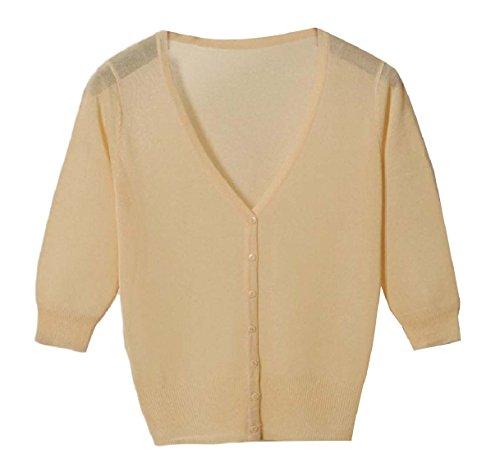 かもめ寝室素晴らしい良い多くのTootess Women's Vest Cardigan Basic Sunscreen Knitting Coat Button Shirt Top