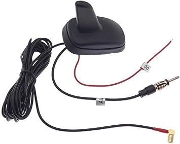 Antena de aleta de tiburón SHARK BLAUPUNKT Radio GPS Navi de techo para coche antena de aleta de tiburón SMB: Amazon.es: Electrónica