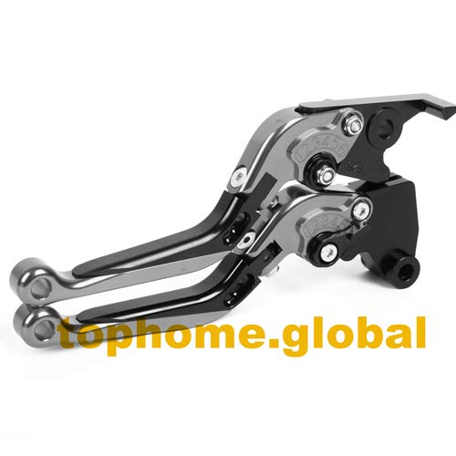Agatha Stores - For Triumph Rocket III ROADSTER 2010-2016 Folding Extending Brake Clutch Levers Adjustable Foldable 2015 2014 2013 2012 2011