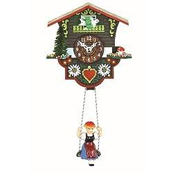 Kuckulino Black Forest Clock Swiss House with quartz movement and cuckoo chime TU 2014 SQ