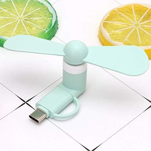 Mifeer Ventilador portátil 2in1 Tipo C Micro USB Mini Ventilador ...