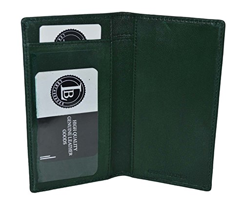 LeatherBoss Plain Checkbook Cover (Green)