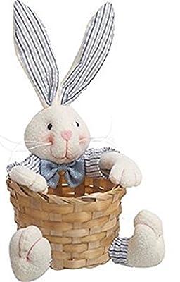 Small Plush Bunny Easter Bunny Basket - Blue